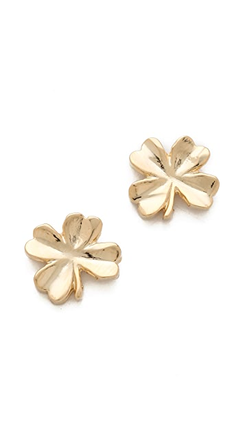 Tuleste Shamrock Stud Earrings