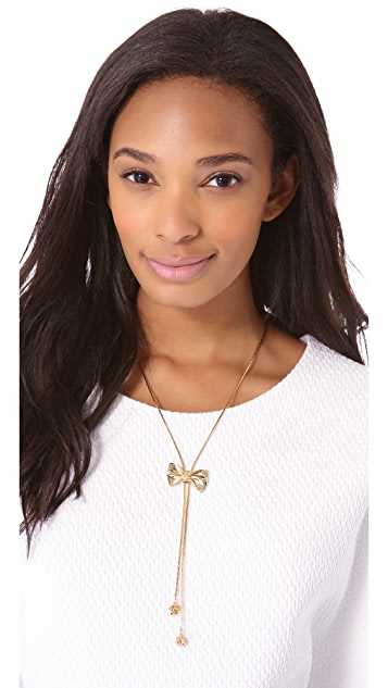 Tuleste Large Bow Lariat Necklace