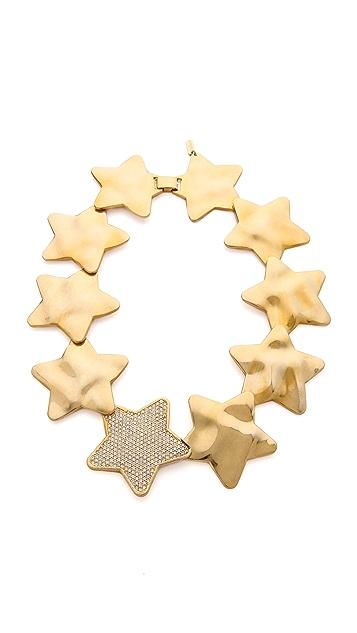 Tuleste Interlocking Star Hammered Necklace