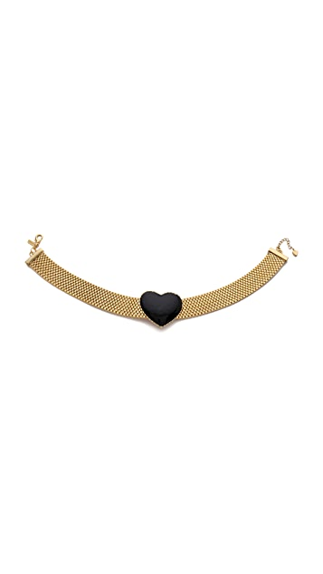 Tuleste Heart Choker Necklace