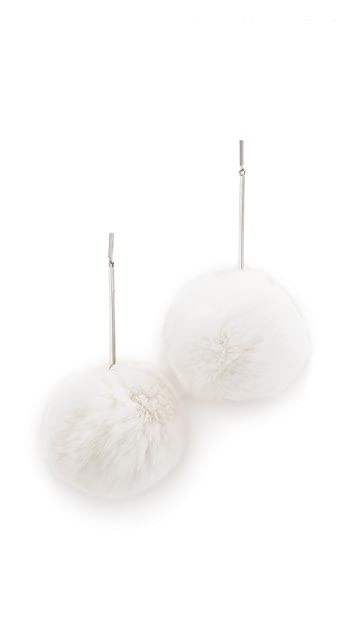 Tuleste Oversized Fur Pom Pom Earrings