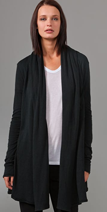 T by Alexander Wang Jersey Batting Shawl Cardigan