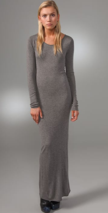alexanderwang.t Fitted Long Sleeve Maxi Dress