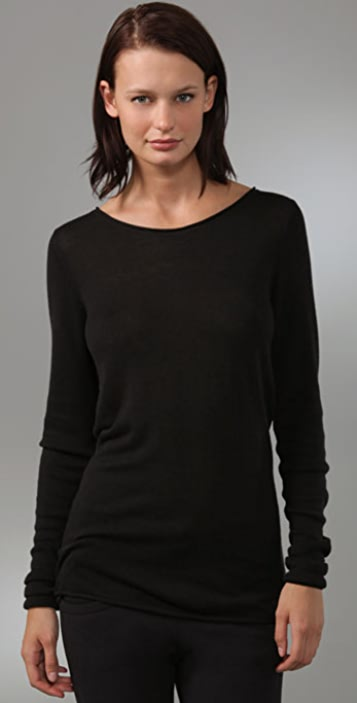 T by Alexander Wang Fitted Long Sleeve Sweater