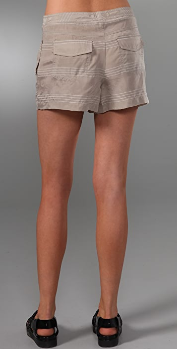 T by Alexander Wang Dobby Stripe Shorts