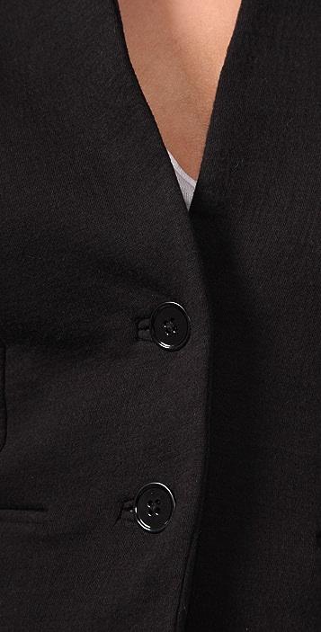 T by Alexander Wang French Rib Flip Collar Jacket