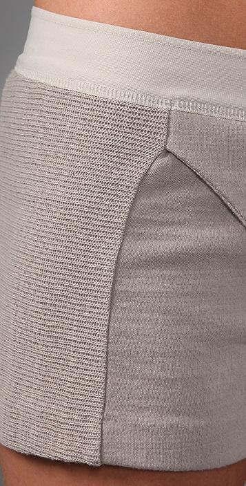 T by Alexander Wang French Rib Panelled Shorts