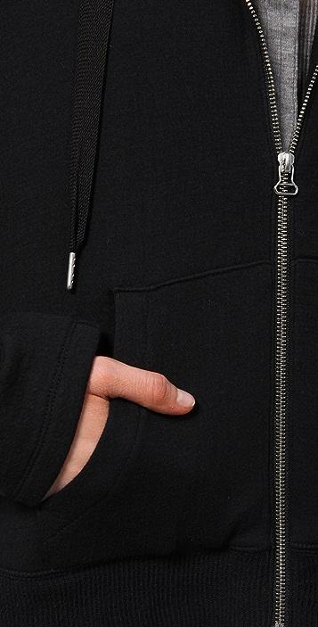 T by Alexander Wang Cascade Drape Back Hoodie