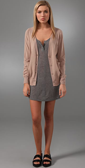 T by Alexander Wang Gauze Back Cardigan