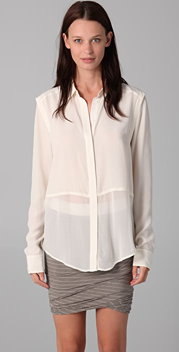 T by Alexander Wang Combo Blouse