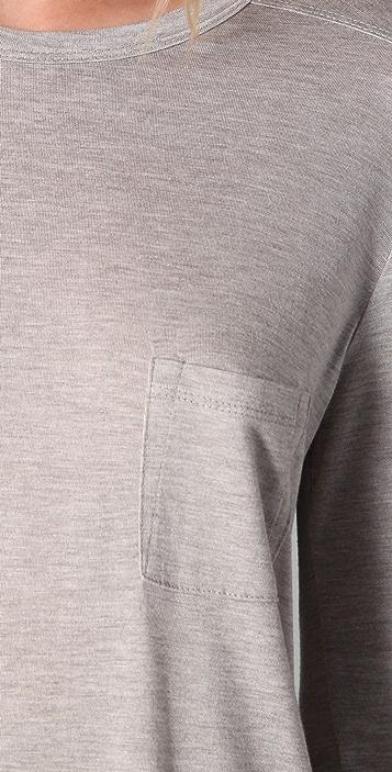 alexanderwang.t Classic Long Sleeve Tee with Pocket