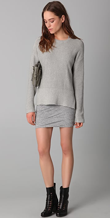 T by Alexander Wang Marled Ruched Skirt