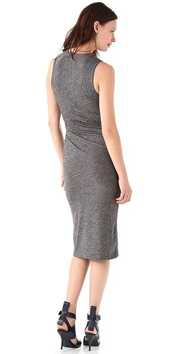 alexanderwang.t Marled Jersey Twist Midi Dress