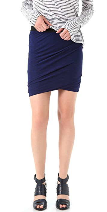 T by Alexander Wang Marled Jersey Twist Skirt