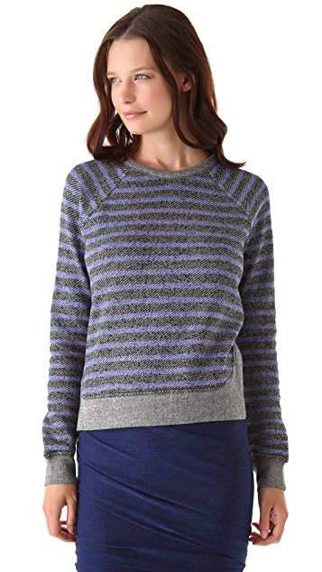 T by Alexander Wang Striped French Terry Sweatshirt