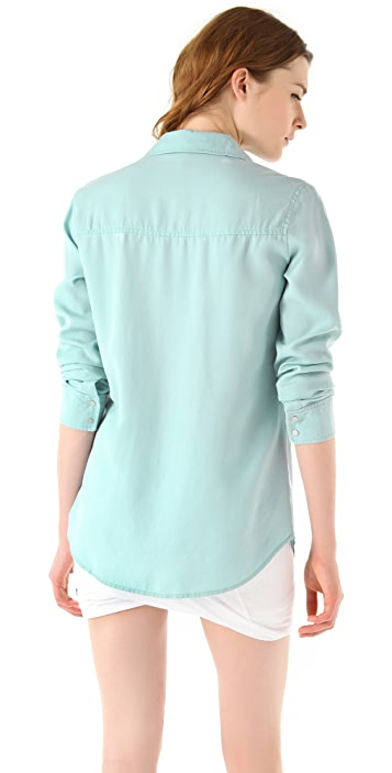 T by Alexander Wang Washed Tencel Shirt