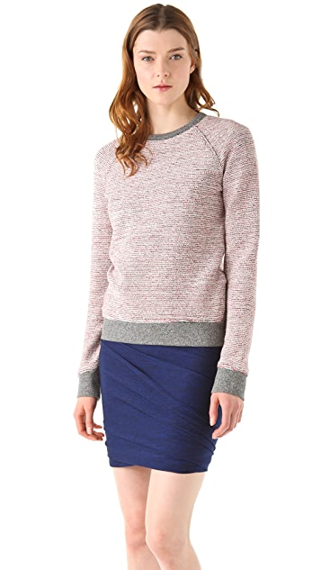 T by Alexander Wang French Terry Crew Neck Sweatshirt
