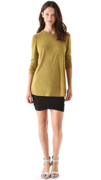 alexanderwang.t Classic Long Sleeve Tee with Pocket