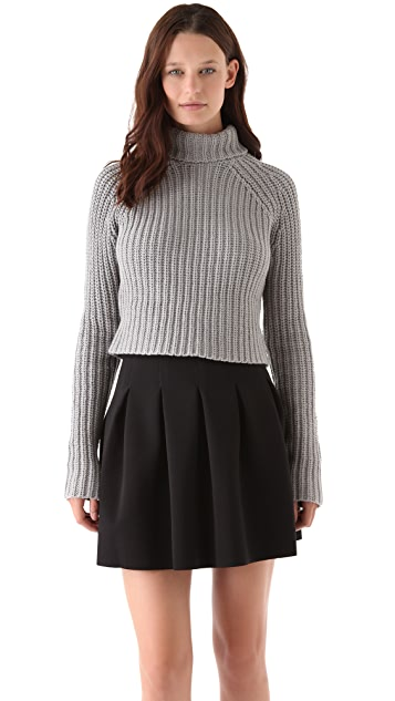 Chunky Cropped Turtleneck
