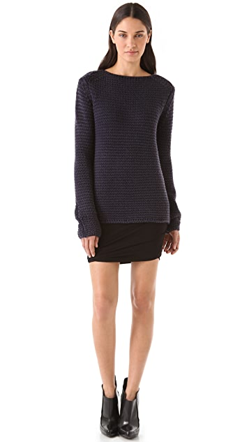 T by Alexander Wang Acid Wash Chunky Sweater