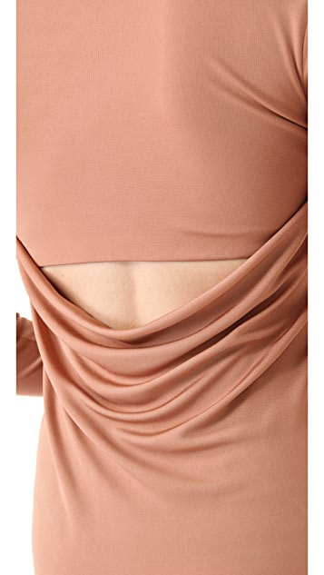 T by Alexander Wang Jersey Drape Mini Dress