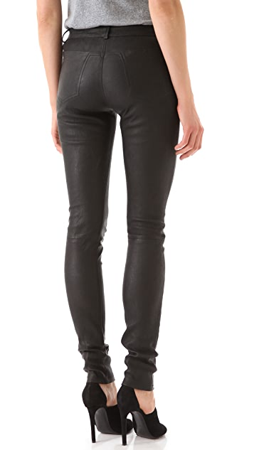 T by Alexander Wang Stretch Leather Pants
