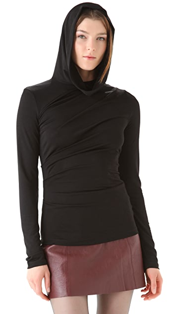 T by Alexander Wang Hooded Drape Top