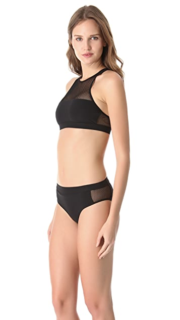 T by Alexander Wang Mesh Crew Bikini Top