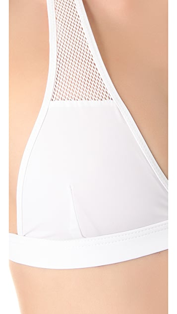 T by Alexander Wang Mesh Triangle Bikini Top