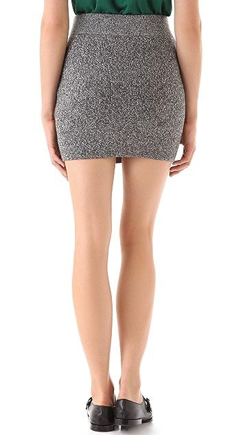 T by Alexander Wang Marled Knit Mini Skirt
