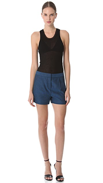T by Alexander Wang Pleated Trouser Shorts