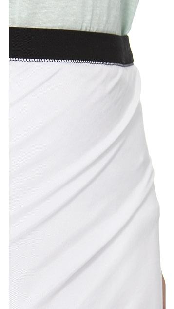 T by Alexander Wang Pique Twist Skirt
