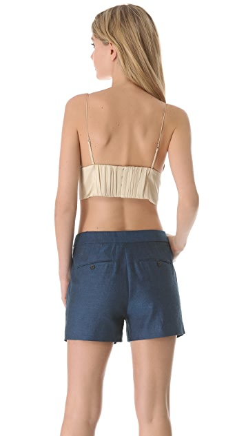 T by Alexander Wang Silk Triangle Bralette