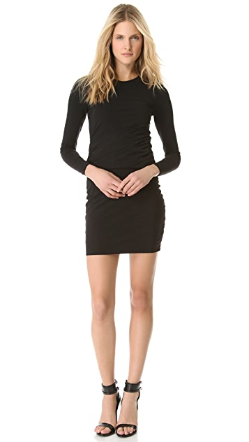 T by Alexander Wang Long Sleeve Twist Dress