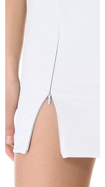 T by Alexander Wang Облегающее платье из костюмной ткани Tech