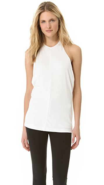 T by Alexander Wang Pique Halter Top