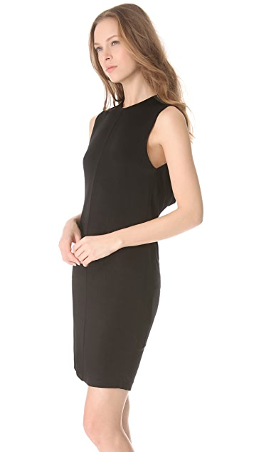 T by Alexander Wang Drape Back Sleeveless Dress