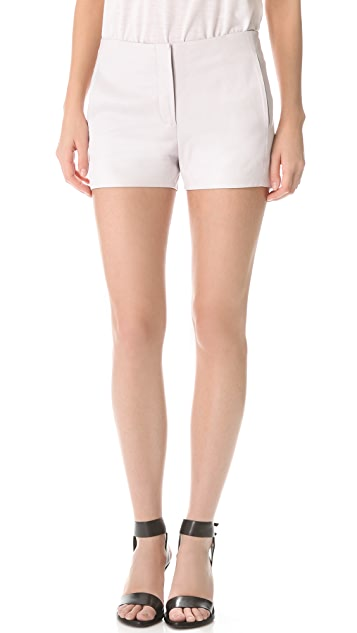T by Alexander Wang Lightweight Leather Shorts