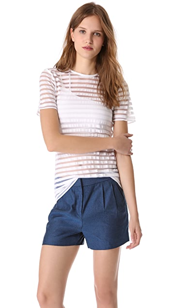T by Alexander Wang Shadow Stripe Short Sleeve Tee