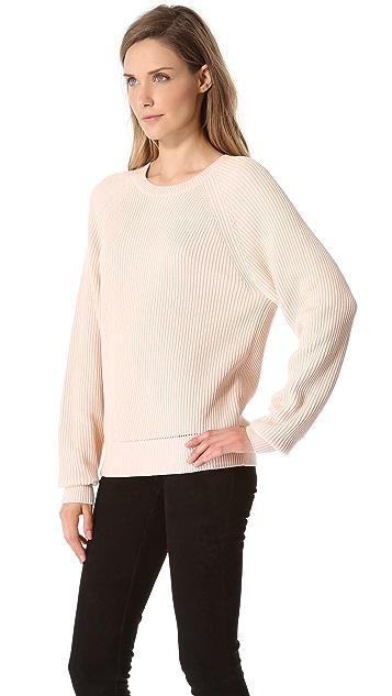 T by Alexander Wang Techy Slick Rib Sweater