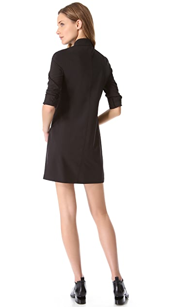 T by Alexander Wang Shirtdress with Collar Pin