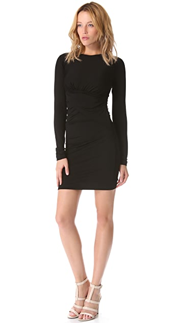 T by Alexander Wang Long Sleeve Twist Dress