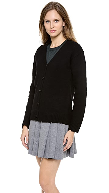 T by Alexander Wang Distressed Wool Cardigan