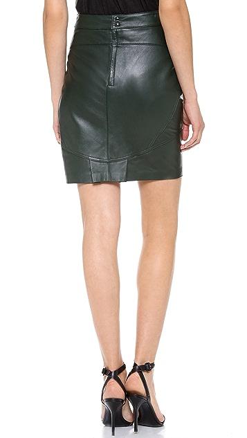 T by Alexander Wang Lightweight Leather Skirt