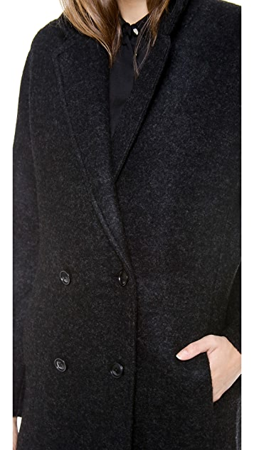 T by Alexander Wang Doubled Sided Wool Blend Car Coat