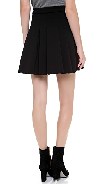 T by Alexander Wang Jersey Bonded Neoprene Box Pleat Skirt