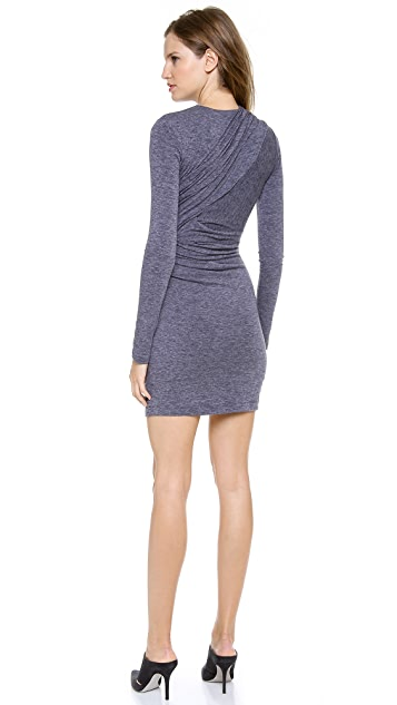 T by Alexander Wang Mohair Jersey Long Sleeve Dress