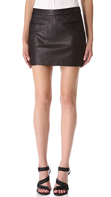 alexanderwang.t Lightweight Leather Miniskirt