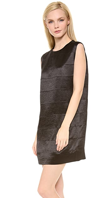 T by Alexander Wang Drape Shiny Stripe Panel Dress