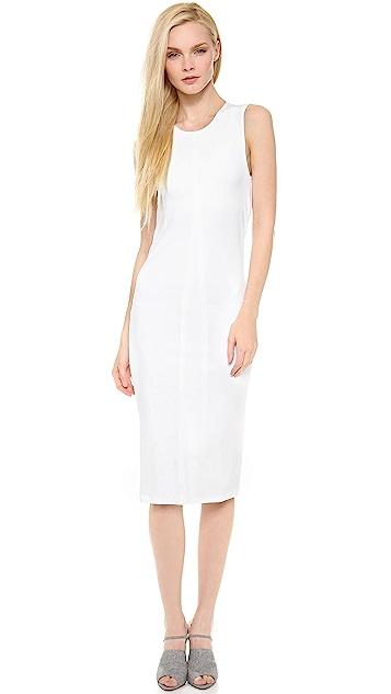 T by Alexander Wang Matte Jersey Sleeveless Back Cowl Dress
